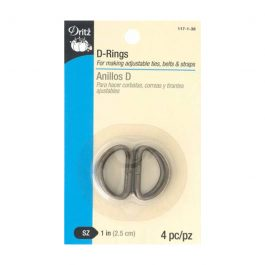 D-Rings Antique Gold 1in 4pc