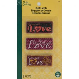 Dritz Quilting – Sew In Embroidered Quilt Labels – With Love