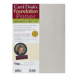 Carol Doak's Foundation Paper- 100 sheets 8.5 x 11.5 Inches