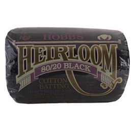Batting Heirloom Premium Black Cotton Blend 90in x 108in