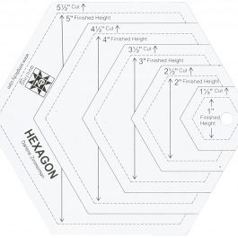 EZ Quilting Hexagon Shapes Acrylic Quilting Template