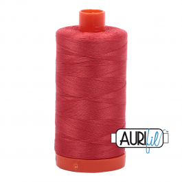 Aurifil 50 Wt Spool- Dark Red Orange
