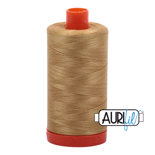 Aurifil 50 Wt - Light Brass