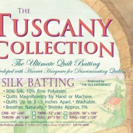 Batting Tuscany Silk Polyester Blend 72in x 96in Twin