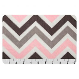 Printed Cuddle- Zig Zag Blush/Silver/Charcoal