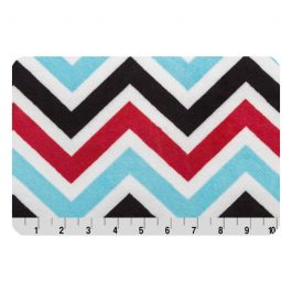 Printed Cuddle- Zig Zag Turquoise/Red/Black