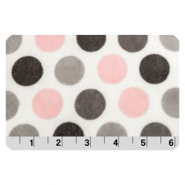 Printed Cuddle- Mod Dot Blush/ Silver