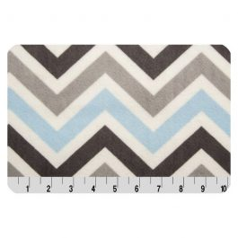 Printed Cuddle- Zig Zag Baby Blue/ Silver/ Charcoal