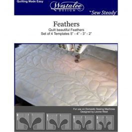 Westalee Rulers- Feather Template Set of 4