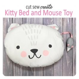 Moda-Cut Sew Create – Kitty Bed & Mouse Toy Panel