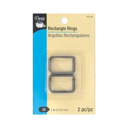 Rectangle Rings 1in 2pc Gunmetal