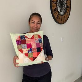 In Store Sewing Class- Heart Cushion Quilted