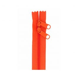 Handbag Zipper 40inTangerine-Double-Slide