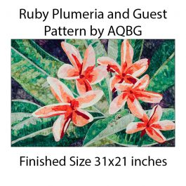 Pattern-Ruby Plumeria and Guest