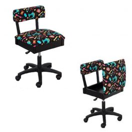 Horn Gaslift Sewing Chair Colorful Fluro