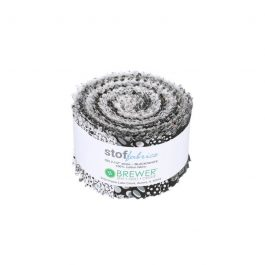 Stof Black and White Fabric Roll 20pc