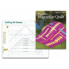 Calling All Geese Ruler with Modern Migration Quilt Book