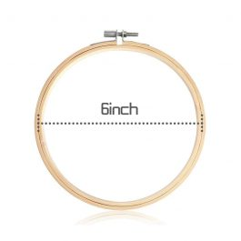 6 Inch Wooden Hand Embroidery Hoop