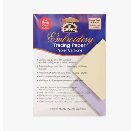 DMC U1541 Embroidery Tracing Paper, Yellow/Blue, 4-Sheets