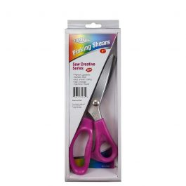 Havel's Sew Creative 9-Inch Pinking Shears-Pink Comfort Grips