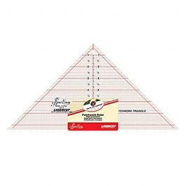 Sew Easy 90- Degree (7.5″ x 15″) Triangle Patchwork Quilting Ruler